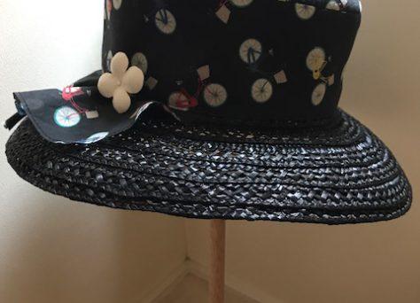 ペプラム帽子(チャリ)
