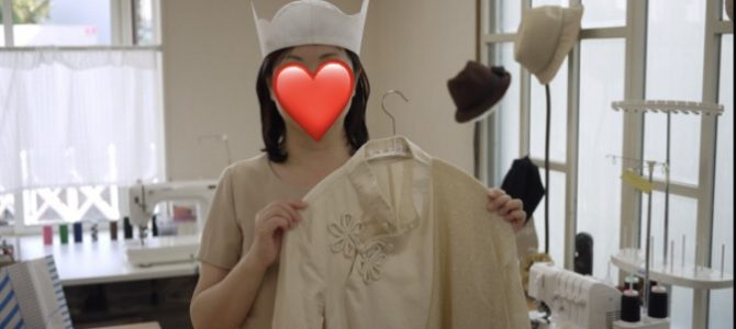 三蔵法師の帽子の仮縫い